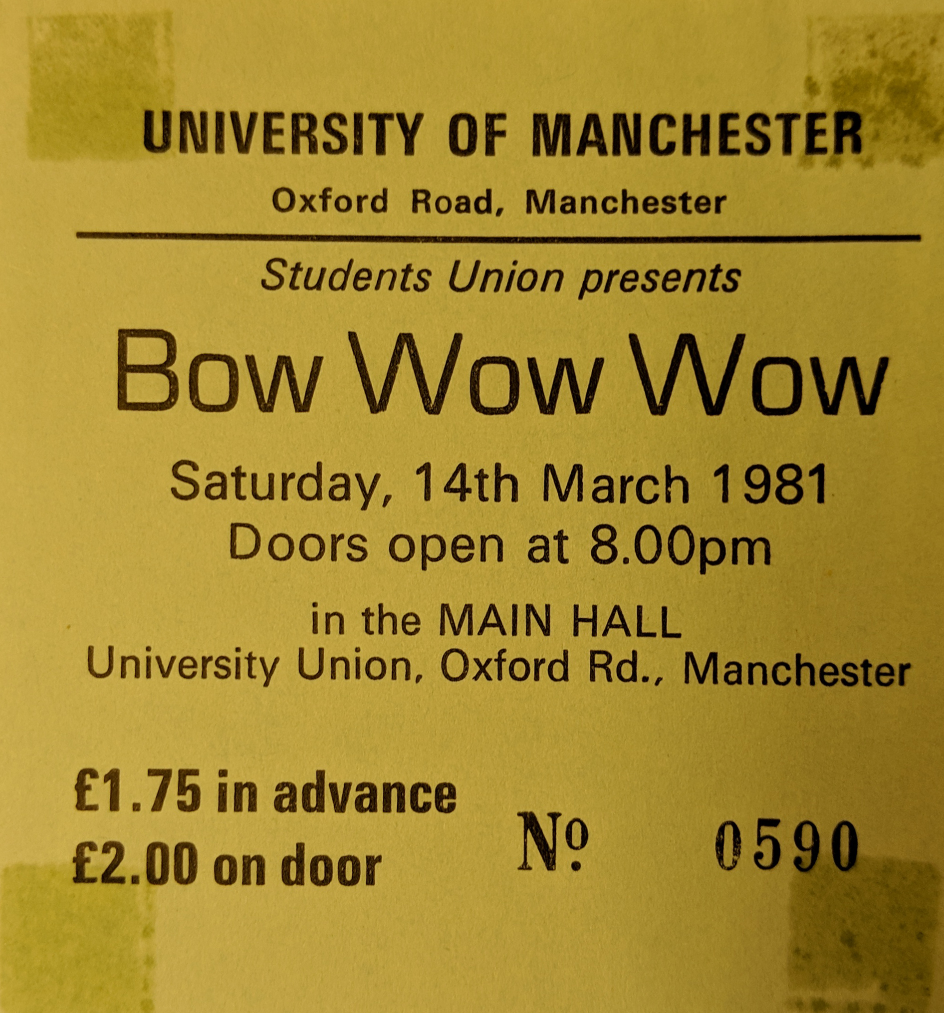 44b652e3b155d Bow Wow Wow (Boy George) – University of Manchester union 14th March 1981